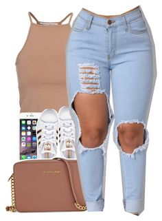"""""""Untitled #411"""" by uniquee-beauty ❤ liked on Polyvore featuring NLY Trend, adidas Originals and Michael Kors"""