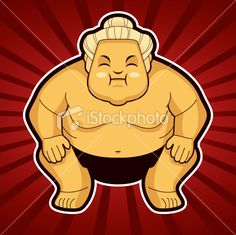 Illustrated Sumo Fighter