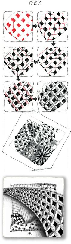 Dex. Official Zentangle with examples.