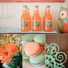 tangerine + aqua mint combination