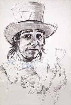 Keith Moon by Ronnie Wood of the stones