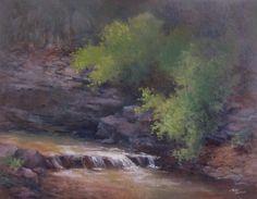 Ozark Stream by Teddy Jackson Oil ~ 14 x 18