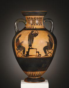 A Black Figure Pseudo Panathenaic Amphora
