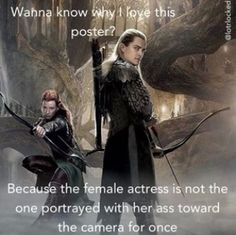 BWAHAHA True though. Legolas / Tauriel / The Hobbit / Funny // Sorry about the swear word but SO MUCH YES