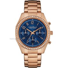 Caravelle New York by Bulova Women's Chronograph Rose Gold-Tone Stainless Steel Bracelet watch Bracelets For Boyfriend, Boyfriend Watch, Stainless Steel Watch, Stainless Steel Bracelet, Ring Bracelet, Bracelet Watch, Rachel Gold, Cartier, Casual Watches