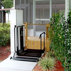 Need A Lift Up Your Front Steps Outdoor Vertical Platform Lifts Are The Ticket Stairlift