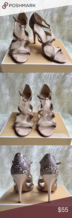MICHAEL Michael Kors animal print Sandals MICHAEL Michael kors animal print Sandals  Pre- Owen, condition like new Size 9M Color animal print cream Style strappy heel Heel 4.5' Material leather MICHAEL Michael Kors Shoes Sandals