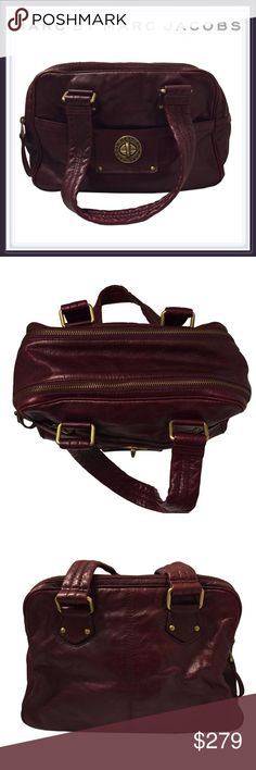 Marc by Marc Jacobs Turnlock Satchel ➖BRAND : Marc by Marc Jacobs ➖STYLE: Turnlock Posh Satchel in a wine red / burgundy. There is some wear on the metal but is excellent shape. ❗️ALL PICTURES are of the actual bag. Non are stock photos❌NO TRADE Marc by Marc Jacobs Bags Satchels