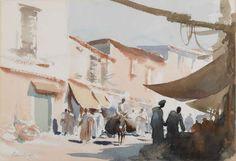 Morocco - The Souk - Edward Seago - Portland Gallery