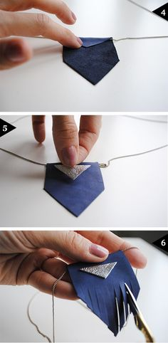 finger Leather necklaces