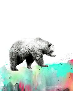 """Wild No. 1 // Bear"" Art Print by Amy Hamilton on Society6."