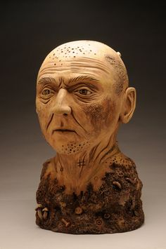 Mud and Rust Figure painted ceramic bust by WitchCraftsCorner, $1700.00