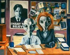 The X-Files.  Does anyone happen to know whom the artist is?