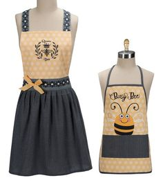 Another great find on #zulily! 'Bee' Adult & Kids' Apron Set #zulilyfinds