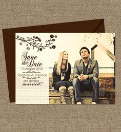 VINTAGE RUSTIC WEDDING Invitations Garden Floral by ArtsyDesignCo