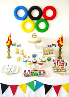 Olympics Inspired sports party ideas and DIY decorations