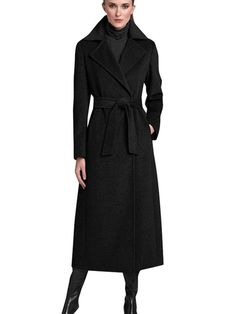 Find T Tahari Women's Long Double Face Wrap Coat online. Shop the latest collection of T Tahari Women's Long Double Face Wrap Coat from the popular stores - all in one Black Winter Coat, Black Wool Coat, Face Wrap, Mode Mantel, Wrap Coat, Other Outfits, Coats For Women, Long Sleeve, Sleeves