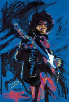 Ronnie Wood The Legends Hendrix  at Miva Fine Art Galleries Sweden