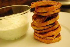 Sweet potato chips with greek yogurt dip! I did this tonight and they were yummy.