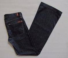 "7 for all Mankind Jeans 27 Dojo Flare 33"" Mercer Dark Nordstrom Stretch Denim  #7ForAllMankind #Flare"