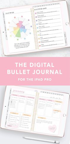 This Digital Bullet Journal is designed to be used with Goodnotes or Notability! It's such a fun way to get creative with your planner :) bullet journal The Digital Bullet Journal for the iPad Pro - compatible with Goodnotes and Notability Bullet Journal Ipad, Digital Bullet Journal, Journal App, Bullet Journal Inspiration, Bullet Journals, Journal Ideas, Ipad Pro, Bujo, Bullet Journal Layout Templates
