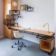 32 Trendy Home Furniture Design Creative Home Office Design, Home Office Decor, Home Interior Design, House Design, Home Decor, Interior Work, Office Ideas, Office Setup, Industrial Furniture