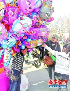 balloon seller and his user