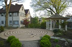 completed church labyrinth garden