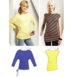Easy to sew asymmetric tunic.