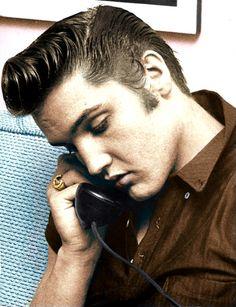 Elvis Presley (coloured)