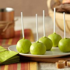 Caramel Apple Cake Ball Pops - Sweet limited edition caramel apple Candy Melts
