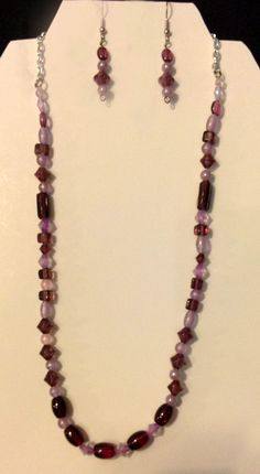 Necklace and Matching Earrings, $16