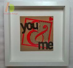 San Valentino o un giorno qualunque per dichiarere il tuo AMORE. Lettere su cartone, un tocco di design originale ed ecologico.