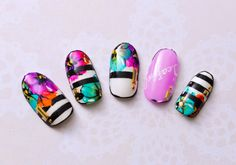 Love Nails, Pretty Nails, Sculpted Gel Nails, Japanese Nail Art, Floral Nail Art, Latest Nail Art, Claw Nails, Nail Art Hacks, Fabulous Nails