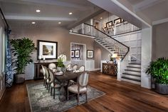 Love this incredible dining room and foyer of Residence One at Vicenza at Orchard Hills, a KB Home Community in Irvine, CA