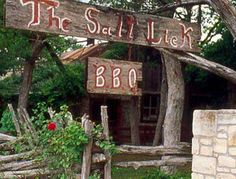 Salt Lick BBQ - 18300 FM 1826. Driftwood, TX,  Every day 11am to 10pm - 512-858-4959   Cash Only (ATM available) & B.Y.O.B.
