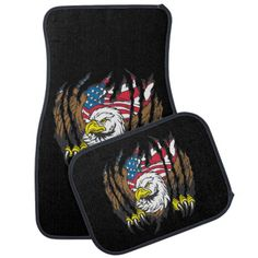 American Bald Eagle USA Flag Car Mat