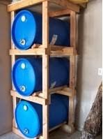 Marvelous Water Storage Rack, Nice Idea For Stacking Water Barrels
