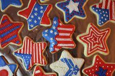4th of July Sugar Cookies!