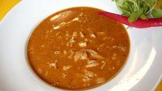 Co budeme potřebovat? 70 g sádlo 1 lžíce mletá paprika 2 lžíce sušená majoránka 2 ks cibule 80 g hladká mouka 600 g dršťky 1 lžička mletého pepře 1/2 lžičky drceného kmínu 1,5 l silného vývaru 5 stroužků česneku petrželka sůl feferonka pro duchucení Jak na to? Dršťky dobře vypereme v několika vodách (nejméně třikrát), nakrájíme Ethnic Recipes, Food, Red Peppers, Essen, Meals, Yemek, Eten