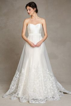 This detachable wedding dress by Jenny Yoo can add a whimsical touch to any gown.