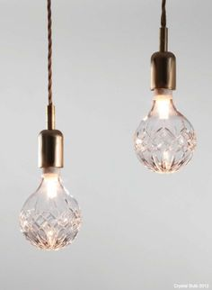 Handmade crystal light bulbs from Lee Broom Lampe Art Deco, Deco Luminaire, Home Lighting, Lighting Design, Pendant Lighting, Lee Broom, My New Room, Midcentury Modern, Light Fixtures