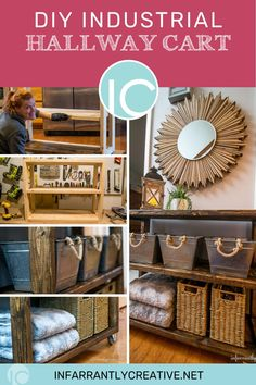 """After scouring Craiglist for an entryway table and coming up short, I decided to make my own. Many times when you find tables they are too wide and really cut off the hallway. Making one yourself can allow you to get just the depth you want for your foyer. This one is so simple to make and uses nothing but 2"""" x 4s which are cheap and obviously very durable. Click to learn how I made it. Diy House Projects, Diy Furniture Projects, Diy Wood Projects, Decorating Your Home, Diy Home Decor, Foyer, Entryway, Knock Off Decor, Furniture Painting Techniques"""