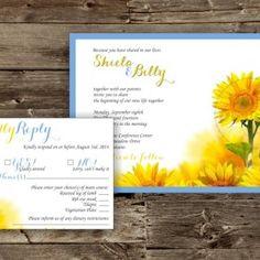 Sunflower Feild Invite Set - a late summer wedding!