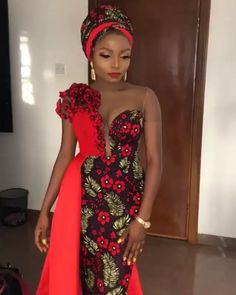 50 Aso Ebi Styles To checkout - Ankara Lovers African Wear Dresses, African Fashion Ankara, Latest African Fashion Dresses, African Print Fashion, African Attire, Latest Ankara Styles, Africa Fashion, African Traditional Wear, African Traditional Wedding Dress