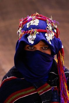 Berber woman in traditional clothing, Morocco