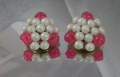 Vintage Pearl Earrings Hong Kong Honeysuckle Pink and by waalaa, $19.99#Repin By:Pinterest++ for iPad#