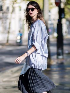 Tip of the Day: Wear Your Windbreaker as a Top via @WhoWhatWear