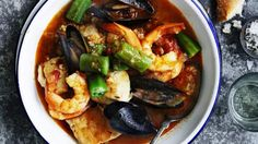 Brown rice and seafood gumbo - Adam Liaw's recipe is an easy and delicious one-pot version of a classic New Orleans-style stew. Cast Iron Casserole Dish, Casserole Dishes, Seafood Gumbo, Fish And Seafood, Food Preparation, No Cook Meals, Seafood Recipes, Family Meals, Love Food