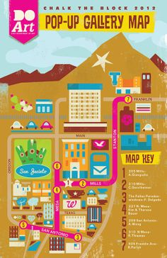 El Paso - Pop-up Gallery map